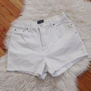 Vintage GAP High Rise Mom Jean Cut Off Short White